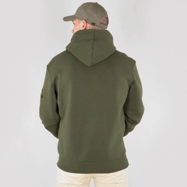 ... Herren Sweatshirt Alpha Industries Army Nav Hoody Army Green ... 3b501d9eff5