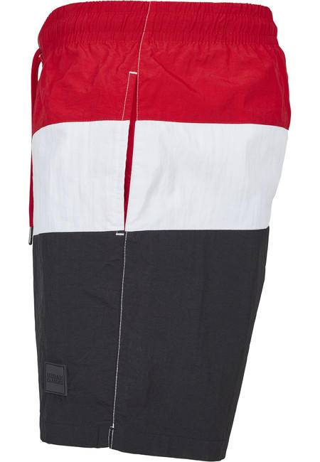 Urban Classics Color Block Swimshorts blk/firered/wht