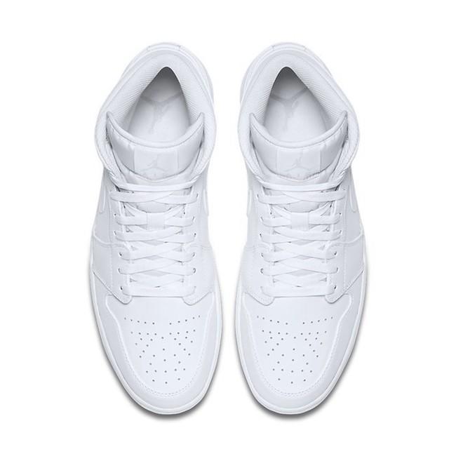 separation shoes ac6c1 4cdbc ... Air Jordan 1 Mid White White Pure Platinum 554724-104 ...