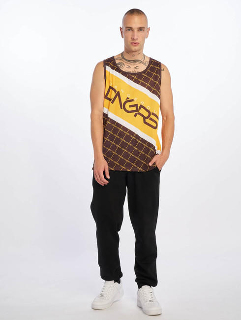 Dangerous DNGRS / Tank Tops Woody in brown