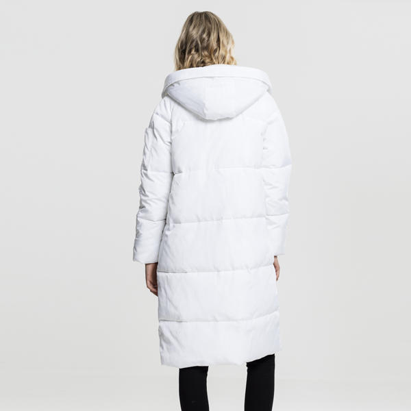 Urban Classics Ladies Oversized Hooded Puffer Coat white