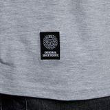 Mass Denim Base Small Logo Longsleeve light heather grey