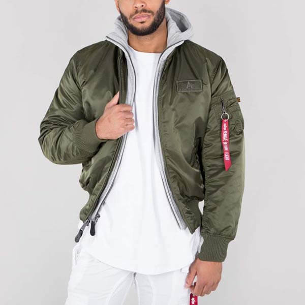 Alpha Industries MA-1 D-Tec Jacket Dark Green - Gangstagroup.de ... b868c1ce328