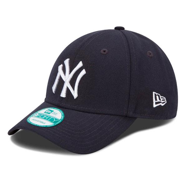 631e9fc42e3 Kids NEW ERA 9FORTY YOUTH MLB LEAGUE BASIC NEW YORK YANKEES NAVY WHITE