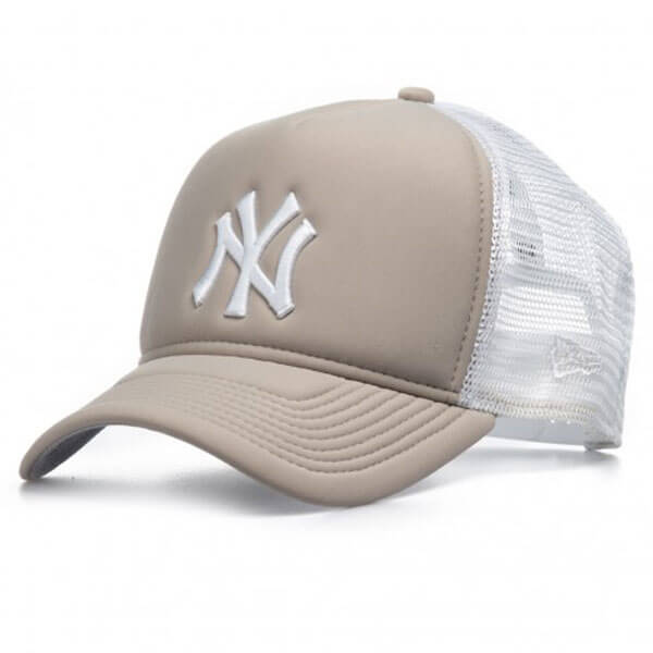 17ab12fe3 Kappe New Era 9Forty Trucker Essential Aframe NY Yankees Grey White. -Cap