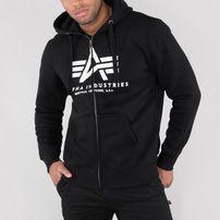 Herren Sweatshirt Alpha Industries Basic Zip Hoody Black