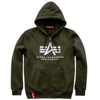 Herren Sweatshirt Alpha Industries Basic Zip Hoody Dark Green
