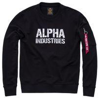 Herren Sweatshirt Alpha Industries Camo Print Sweat Black White