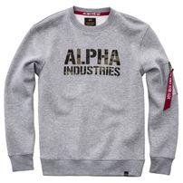 Herren Sweatshirt Alpha Industries Camo Print Sweat Grey Heather