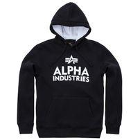 Herren Sweatshirt Alpha Industries Foam Print Hoody Black White