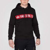 Herren Sweatshirt Alpha Industries RBG Hoody Black