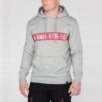 Herren Sweatshirt Alpha Industries RBG Hoody Grey Heather