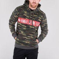 Herren Sweatshirt Alpha Industries RBG Hoody Wdl Camo