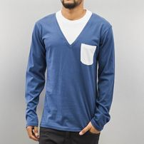 Cazzy Clang Breast Pocket Longsleeve Blue/White