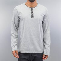Cazzy Clang Button Tape Longsleeve Grey