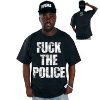 Cocaine Life Fuck The Police T-shirt Schwarz