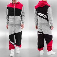 Dangerous DNGRS Sweat Suit Grey/Black/Red