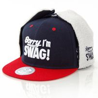 GangstaGroup Sorry I`m Swag! Dog Ear Winter Cap Navy Red