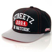 Streetz Iz Watchin College Snapback Black Grey