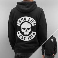 Thug Life Skull Hoody Black
