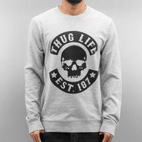 Thug Life Skull Sweatshirt Grey