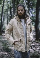 Urban Classics Chambray Lined Parka beige