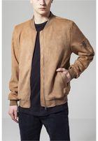 Urban Classics Imitation Suede Bomber Jacket toffee