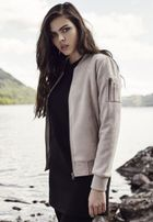 Urban Classics Ladies Imitation Suede Bomber Jacket taupe