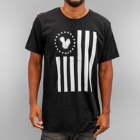 Who Shot Ya? Stars And Stripes T-Shirt Black
