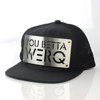 Karl Alley You Betta Werq Mesh Snapback Black Silver