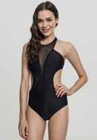 Urban Classics Ladies Tech Mesh Swimsuit black